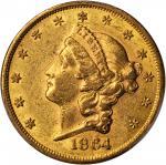 1864 Liberty Head Double Eagle. AU-58 (PCGS). CAC.