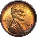 1913 Lincoln Cent. Proof-67+ RB (PCGS). CAC.