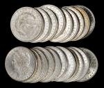 Lot of (20) Morgan Silver Dollars. Average MS-60 to MS-62.