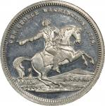 Circa 1860 Equestrian / Old Hasbrook House medal by George H. Lovett. Musante GW-281, Baker-181C. Wh