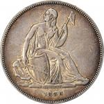 1836 Gobrecht Silver Dollar. Name on Base. Judd-60 Original, Pollock-65. Rarity-1. Dannreuther Rever