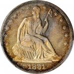 1881 Liberty Seated Half Dollar. Type I/II Reverse. Proof. Unc Details--Tooled (PCGS).