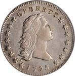 1795 Flowing Hair Silver Dollar. BB-21, B-1. Rarity-2. Two Leaves. EF Details--Scratch (PCGS).