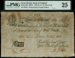 Bank of England, Henry Hase (1807-1829), 1, Emergency issue, London, printed date 5 January 1826, se
