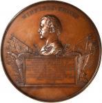1847(Post-1850) Major General Winfield Scott / Mexican-American War. Bronzed Copper. 90 mm. Julian M