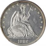 1884 Liberty Seated Half Dollar. WB-101. Proof-62 (PCGS).