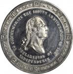 1876 U.S. Centennial Exposition. Declaration of Independence Dollar. Pewter. 43 mm. HK-79, Musante G