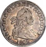 1802 Draped Bust Half Dollar. O-101, T-1, the only known dies. Rarity-3. VF-25 (PCGS).