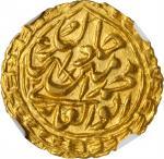 ISLAMIC KINGDOMS. Khans of Khiva. 1/2 Tilla, AH 1269 (1853). Khwarezm Mint. Muhammad Amir Khan. NGC