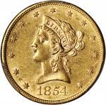 1854-S Liberty Head Eagle. AU-55 (PCGS). CAC.