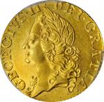 GREAT BRITAIN. 1/2 Guinea, 1760. London Mint. George II. PCGS MS-63 Gold Shield.