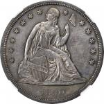 1850 Liberty Seated Silver Dollar. MS-63 (NGC).