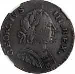 1787 Machins Mills Halfpenny. Vlack 19-87C, W-7940. Rarity-2. GEORGIVS III, Group III. EF-40 BN (NGC