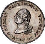 Circa 1855 King Alcohol medal. Musante GW-177, Baker-334, var. Brass, Silvered. MS-63 (PCGS).