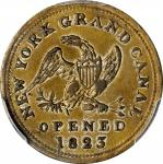 New York—New York. 1823 Tredwell, Kissam & Co. token. Rulau-E NY 921B. Brass, silvered. 26 mm. AU-50