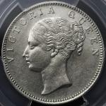 INDIA British India イギリス领インド Rupee 1840(b) PCGS-AU DetailCleaned  洗浄 EF