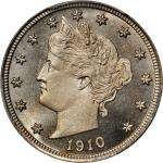 1910 Liberty Head Nickel. Proof-68 Cameo (PCGS). CAC.