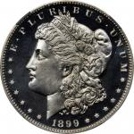1899 Morgan Silver Dollar. Proof-67 Cameo (NGC).