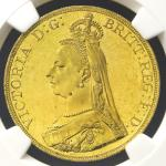 GREAT BRITAIN Victoria ヴィクトリア(1837~1901) 5Pounds 1887 NGC-MS63 UNC