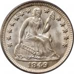 1849/8 Liberty Seated Half Dime. MS-66 (PCGS). CAC.