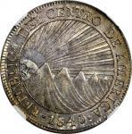 GUATEMALA. 8 Reales, 1840/37-NG MA/BA. Nueva Guatemala Mint, Assayer