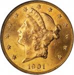 1901 Liberty Head Double Eagle. MS-63 (NGC).