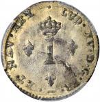 1739-W Sou Marque. Lille Mint. Vlack-200. Rarity-2. MS-63 (PCGS).