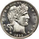 1892-O Barber Half Dollar. Specimen-66 * (NGC).