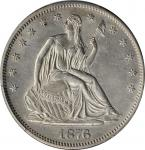 1876-S Liberty Seated Half Dollar. Type I Reverse. WB-Unlisted. Micro S. Unc Details--Altered Surfac