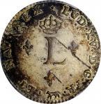 1741-A Sou Marque. Paris Mint. Vlack-20a. Rarity-5. Second Semester. MS-63 (PCGS).
