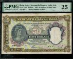 1941年有利银行伍拾圆 PMG VF 25 The Mercantile Bank of India $50