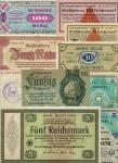 A Small Selection of Banknotes from Germany, Belgium and France, including a Conversion note for 5 r