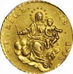 ITALY. Genoa. 50 Lire, 1758. NGC AU-53.