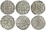 Cooch Behar, Mada Narayan (1663-81), Half-Rupees (3), 4.84, 4.83, 4.85g, legends on both sides only