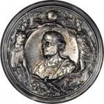 1892 Worlds Columbian Exposition. Cristoforo Colombo Medal. Silver, hollow. 102 mm. 114.5 grams. By