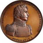 1814 Master Commandant Thomas Macdonough Medal. Bronze. 65 mm. Julian NA-15. MS-64BN (NGC).