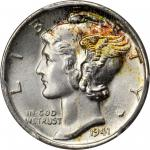 1941 Mercury Dime. MS-68 FB (PCGS).