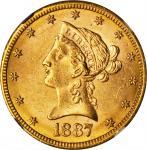 1887-S Liberty Head Eagle. MS-62 (NGC). CAC.
