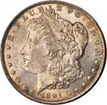 1891-CC Redfield Morgan Silver Dollar. MS-62.