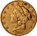 1865-S Liberty Head Double Eagle. Extremely Fine, Environmental Damage (Uncertified).