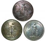 Great Britain, British Trade Dollars, 1896B, 1929B and 1930, fine, good extremely fine and almost un