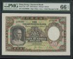 1977年渣打银行500元,编号Z/Q036688, PMG66EPQ。The Chartered Bank, $500, 1.1.1977, serial number Z/Q 036688, (P