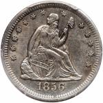 1856-S/S Seated Quarter Dollar