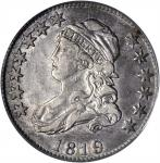1819 Capped Bust Quarter. B-2. Rarity-3. Large 9. EF-45 (PCGS).