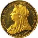 1893年2英镑精製金币 GREAT BRITAIN. 2 Pounds, 1893. Victoria. NGC PROOF-64 ULTRA CAMEO.