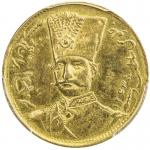 Lot 838 IRAN: Nasir al-Din Shah, 1848-1896, AV toman, Tehran, blundered date, KM-933, date in normal