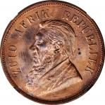 SOUTH AFRICA. Penny, 1898. Pretoria Mint. NGC MS-63 Red Brown.