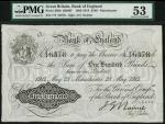 1914年英格兰银行曼彻斯特100镑 PMG AU 53