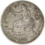 CHINESE CHOPMARKS: UNITED STATES: AR trade dollar, 1876-S, KM-108, large Chinese merchant chopmarks,