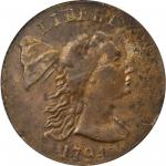 1794 Liberty Cap Cent. S-19B. Rarity-4. Head of 1793. EF-40 (PCGS).